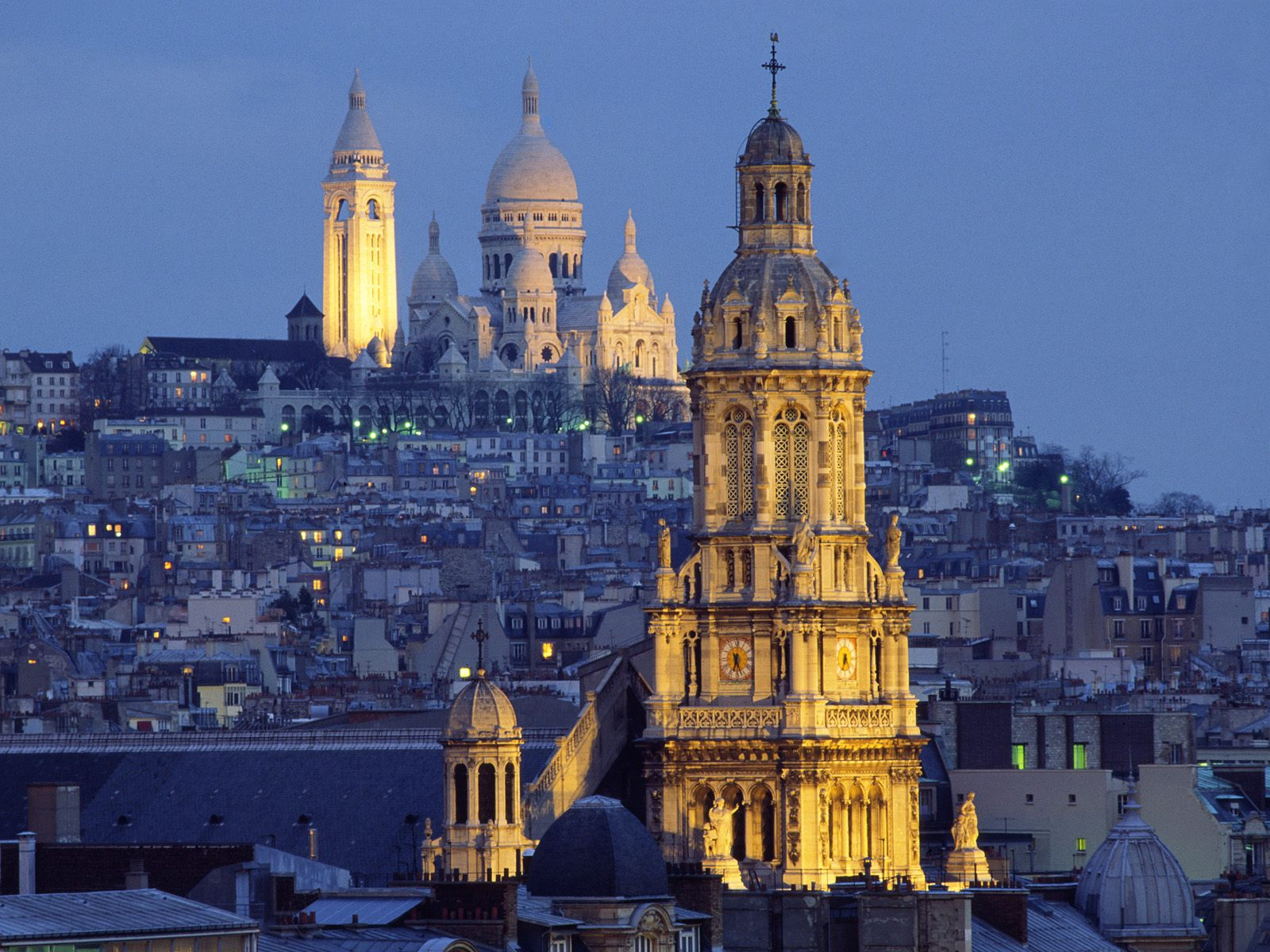 The Sacred-Heart Basilica in the Distance, Montmartre, Paris, France